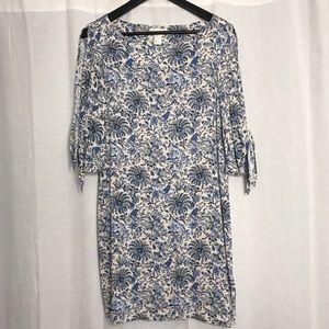 H&M Floral paisley cold shoulder tunic dress